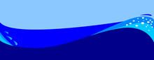 Dark Blue Wave Background