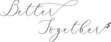 Handwritten Typography Calligraphic Lettering Text