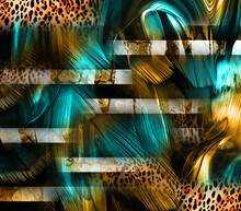 Digital Painted Abstract Design, Colorful Texture, Fabric Print Pattern, Print Designs, Leopard Floral Print Patterns