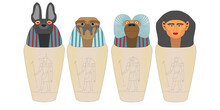 Canopic Jars Were Used By The Ancient Egyptians During The Mummification Process To Store And Preserve The Viscera Of Their Owner For The Afterlife.
