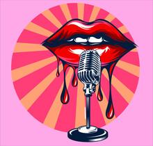 Women Lips Illustration