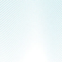 Blue White Minimal Curved Wavy Lines Abstract Futuristic Tech Background. Vector Digital Art Design