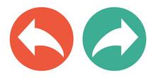 Banner Mit 2 Buttons: Pfeil Vor Und Zurück