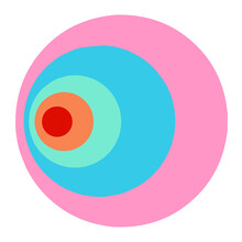 Illustration With Rainbow Circle. Lgbt Flag. Rainbow Background.