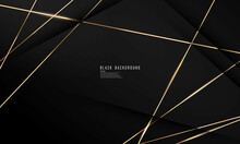 Abstract Black Line Arts Background Luxury White Gold Modern