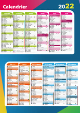 Calendrier 2022 Avec Vacances Scolaires