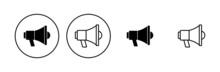 Megaphone Icon Set. Loudspeaker Icon Vector.