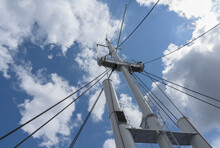 View From Below On Nautical Vessel Mast