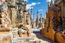 Myanmar. Nyaung Shwe. The Sankar Lake. Temple Of Takhaung Mwetaw