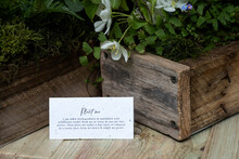 Crate Of Wild Flowers, Decorations For A Woodland Naming Ceremony