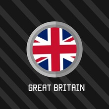 Illustration Vector Graphic Of Great Britain Flag Logo Perfect For Background,template,etc.
