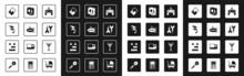Set Gamepad, Submarine Toy, Kite, Puzzle Pieces, Dart Arrow, Playing Cards, Rake And Toy Building Block Bricks Icon. Vector