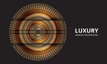 Mandala Design Mandala Vector Round Luxury Design Golden Brush Text.