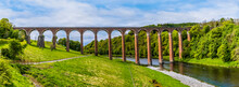 A View Of The Leaderfoot Viaduct In Scotland On A Summers Day
