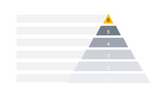 Blank 6 Tier Pyramid Chart. Clipart Image