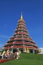 Viharn At Wat Huai Pla Kung, Chiang Rai Province, Thailand