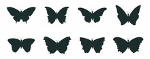 Butterfly Silhouette Icons Collection