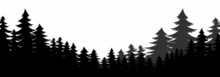 Forest Silhouette, Pine Tree Silhouette