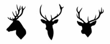 Deer Head Silhouette Collection