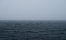 Foggy Ocean Horizon