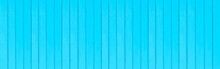Panorama Of Old Blue Vintage Wooden Wall Pattern And Seamless Background