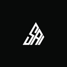 SAI Letter Logo Creative Design. SAI Unique Design