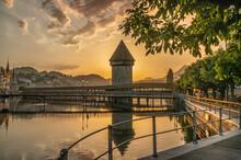 Beautiful Sunrise In Lucerne