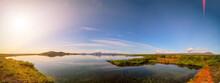 Calm Lake In Iceland Landscape