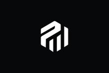 PM Letter Business Logo Design Alphabet Icon Vector Monogram
