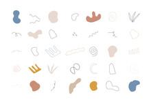Set Freehand Boho Doodle Geometric Shapes. Modern Vector Illustration