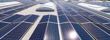 Solar Panels On A Flat Roof.