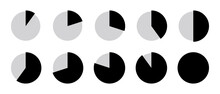 シンプル 円 グラフ セット