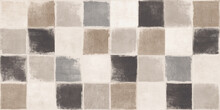 Black And White Checkered Floor, Grunge Colorful Tiles Background