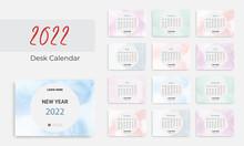 Watercolor New Year 2021 Calendar Template