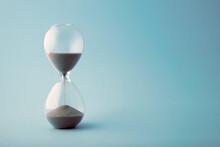 Hourglass Time Clock In Blue Tone