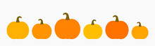 Pumpkins Icons Collection. Pumpkins Isolated On White Background.