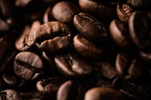 Coffee Beans Background, Roasted Signature Bean With Rich Flavour, Best Morning Drink And Luxury Blend.