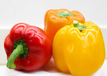 Three Bell Peppers Closeup