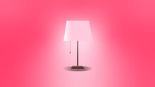 Pink Lamp On A Wall