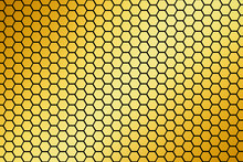 Pieces Of Honeycomb, Hexagon. Sweet Food. Honey Bees And Wax. Nectar. 3d Abstract Illustration.