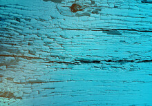 Wood Texture, Vector Abstract Background. Old Paint On Wood. Vintage, Grunge In Blue And Green Tones.