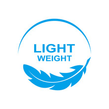 Lightweight Feather Icon On White Background Lightweight Vector Icon