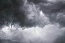 Dangerously Menacing Angry Dark Grey Storm Clouds