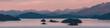 Leinwandbild Motiv Sunset scene on the lake