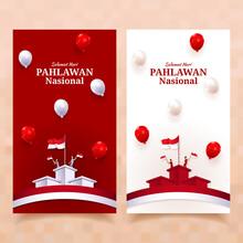 Hari Pahlawan Nasional Or Indonesia National Heroes Day Social Media Posts