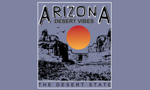 Arizona Graphic Print Design For Apparel, Sticker, Background And Others.