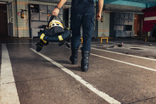 Fire Station And Firefighter