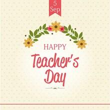 Happy Teacher's Day Simple Design