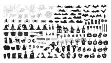 Set Of Elements. Halloween - October 31. Hand-drawn Doodle Illustration. Trick Or Treat. Happy Halloween 2021