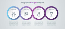 Set Line Medieval Throne, Gallows, Poison In Bottle And Goblet. Business Infographic Template. Vector